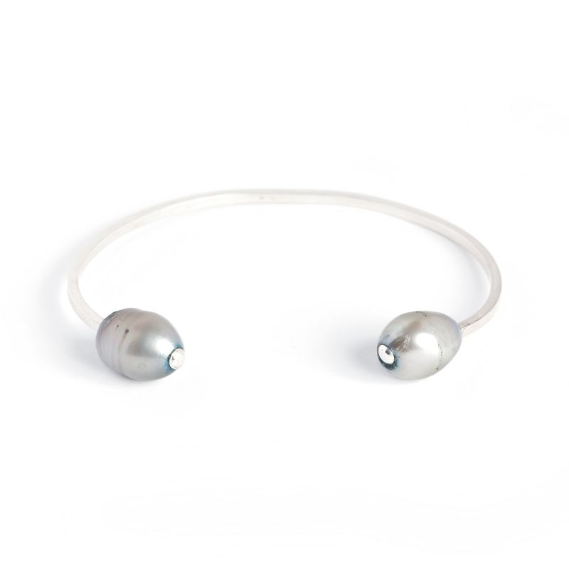 Dueling Pearl Cuff - Silver image