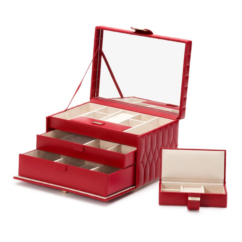 Caroline Medium Jewelry Case Red image