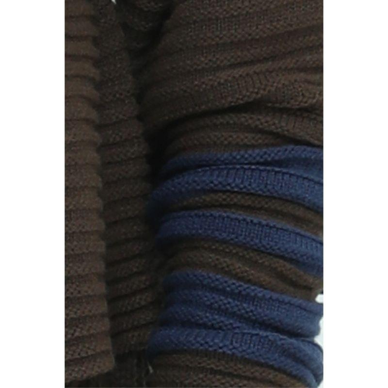 Kara Chunky Rib Knit Cardigan - Blue, Green image