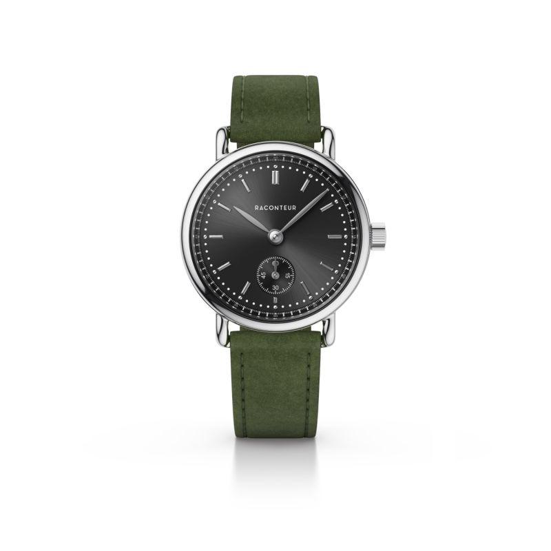 Earhart Silver Grey - Emerald Suede image