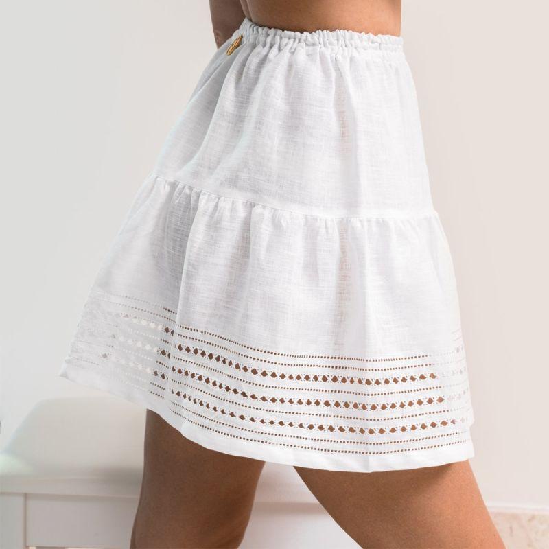 Yarina Mini Skirt in Elegant White image