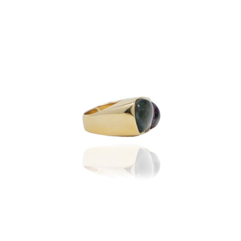 Open Gold Crystal Topaz Ring image