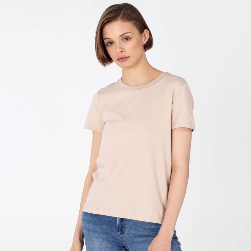 Women's Crew-Neck T-Shirt Beige image