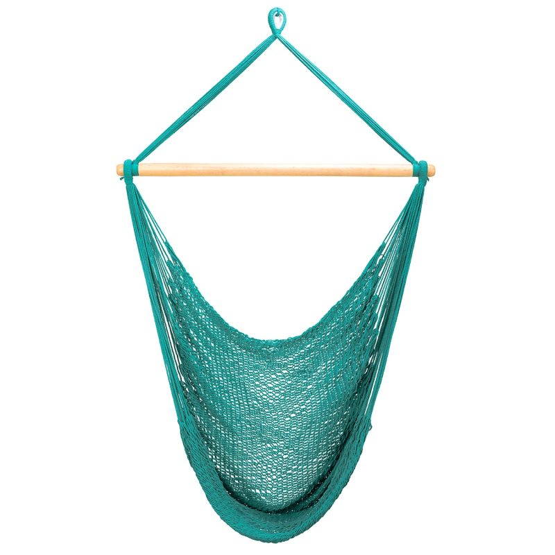 Teal Green Cotton Hammock Swing - Featured In Better Homes & Gardens Magazine, April 2021 Issue image