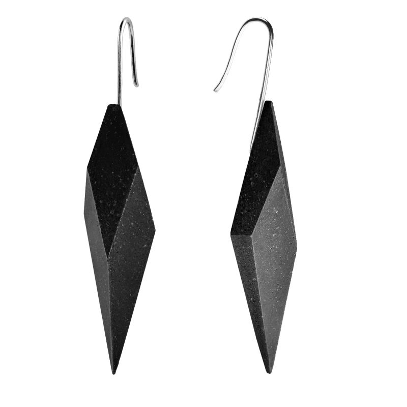 Wally Concrete Earrings Anthracite image