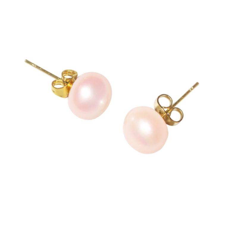 Zoe Pink Stud Pearl Earrings image