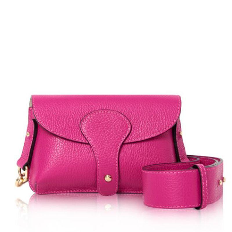 Luca Small Crossbody Bag In Fuchsia Pink image