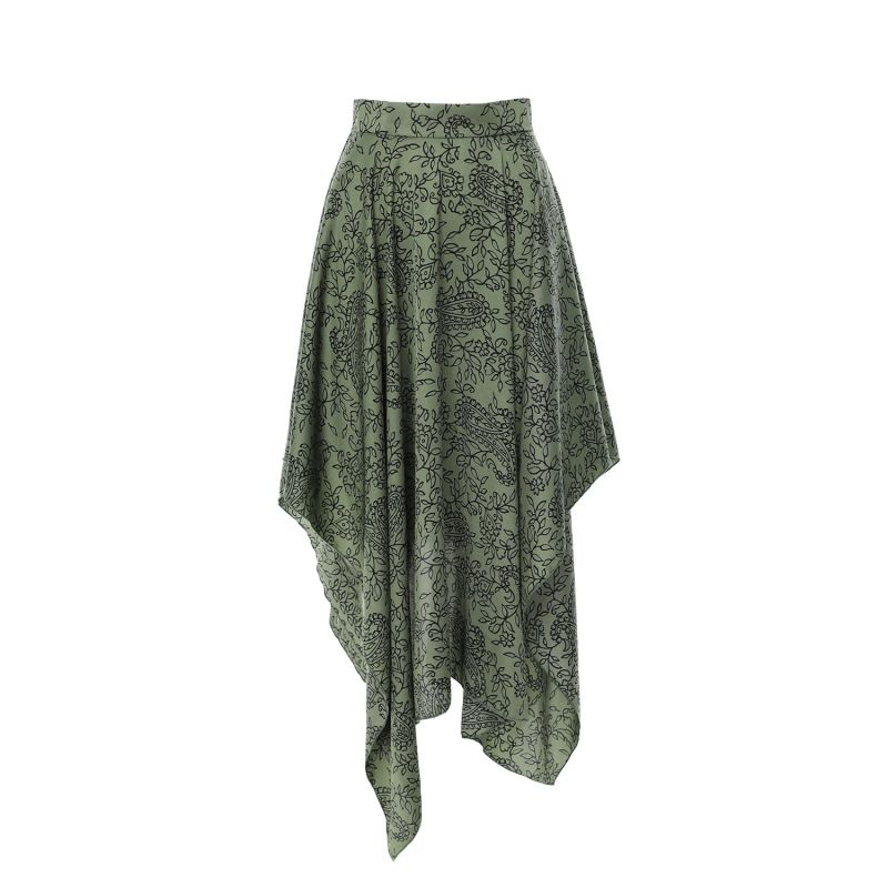 Peasley Printed Asymmetrical Flared Skirt image