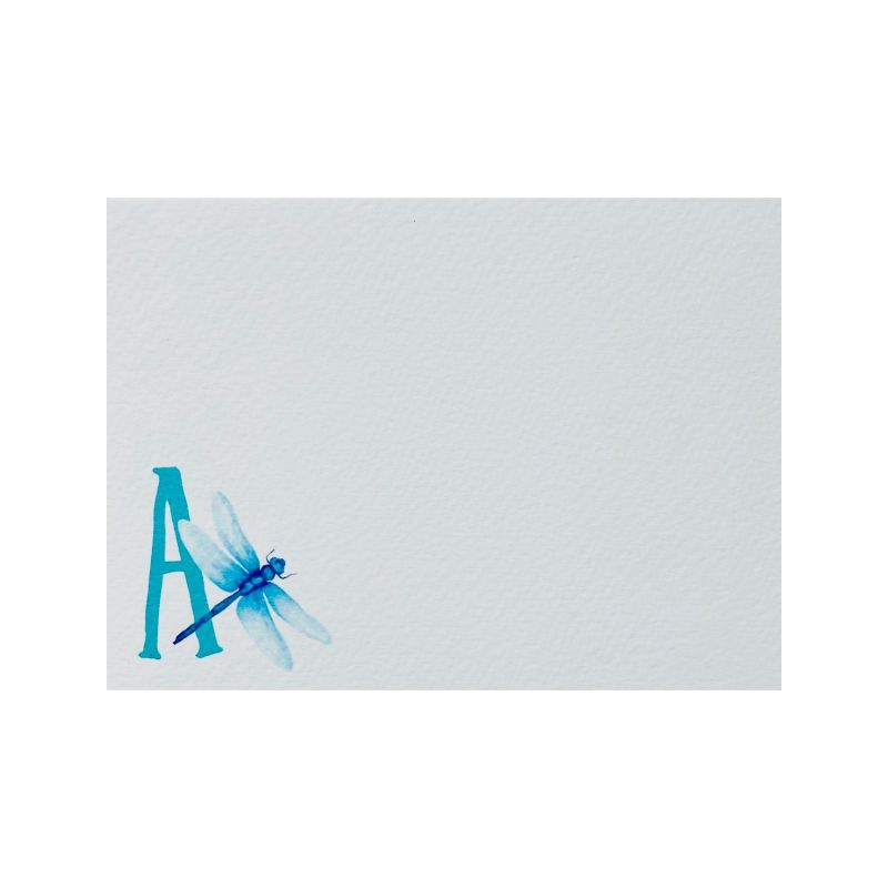 Dragonfly Letter Notecards: Pack Of 10 image