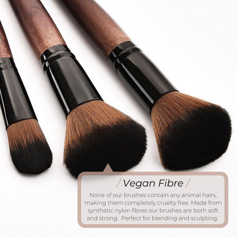 Vegan 2 Piece Eyeshadow Makeup Brush Set image