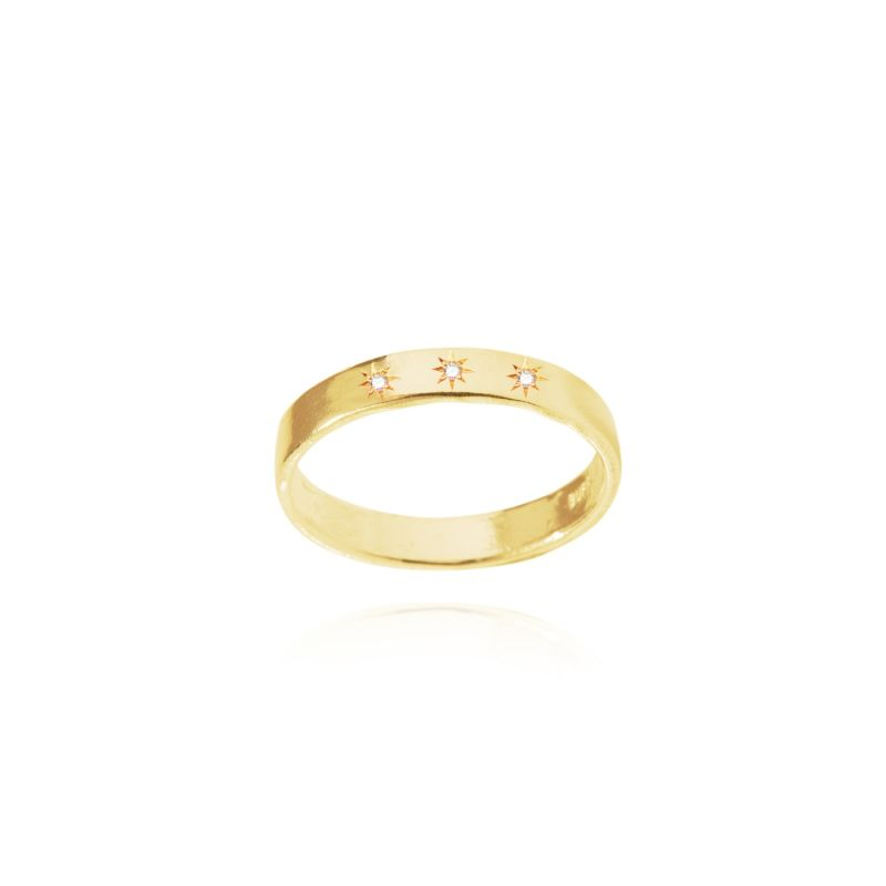 Diamond Constellation Stardust Stacking Ring Gold image