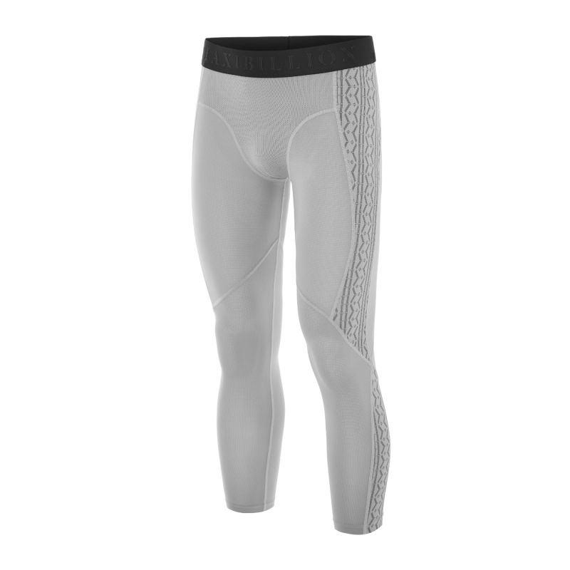 London Technical Mesh Compression Tights 3/4 Grey image