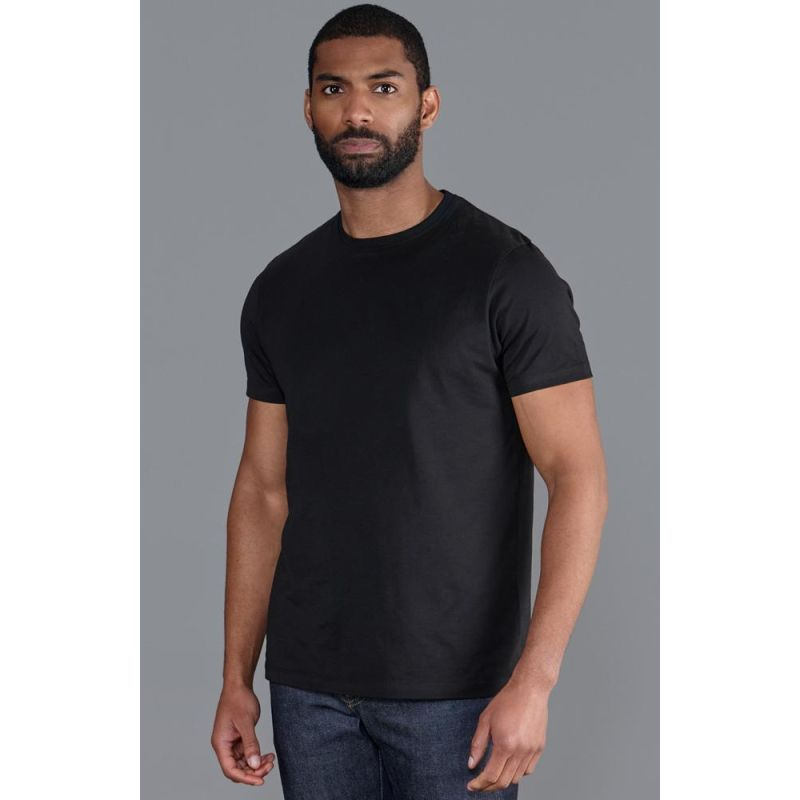Mens Heavyweight Fitted Supima Cotton T-Shirt  - Black image