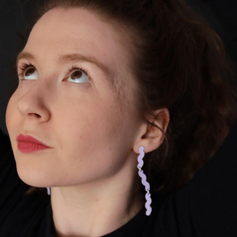 Current Drop Earrings - Lavender image