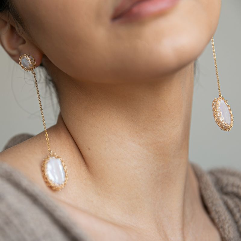 Angela 14K Recycled Gold-Filled Freshwater Baroque Pearl Drop Earrings image
