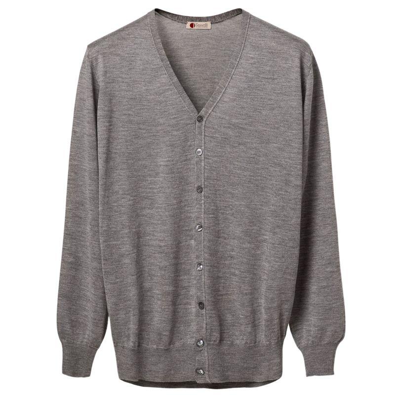 Ultralight Cashmere and Silk V Neck Cardigan image