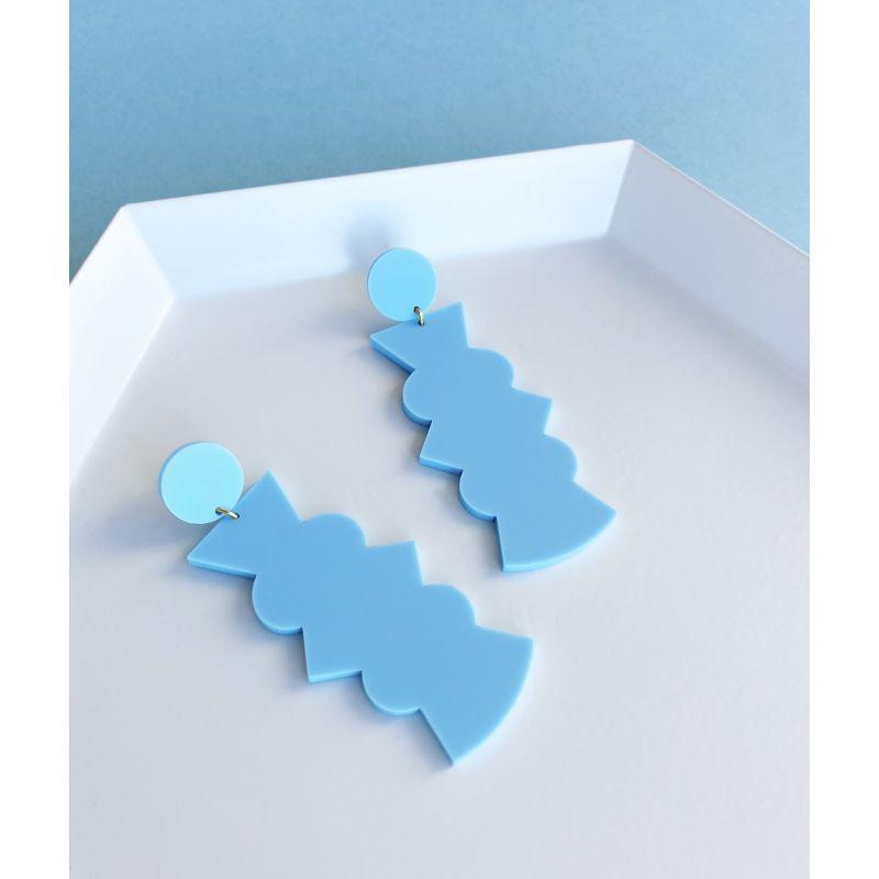 Potter Large Pastel Blue Earrings image