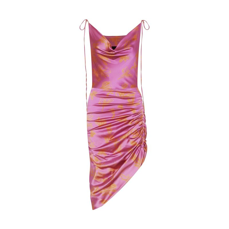 Ruched Organic Silk Dress image
