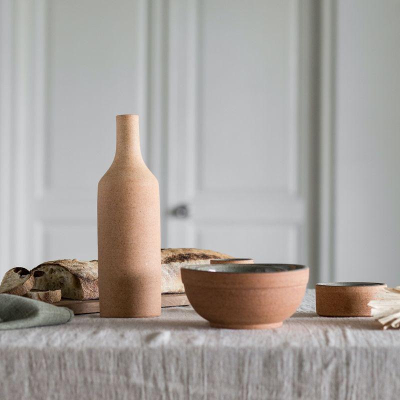 Henal Ceramic Cereal Bowl - Natural Earth Green image