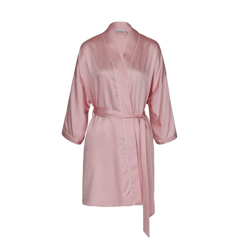 Silky Bamboo Robe In Pink image