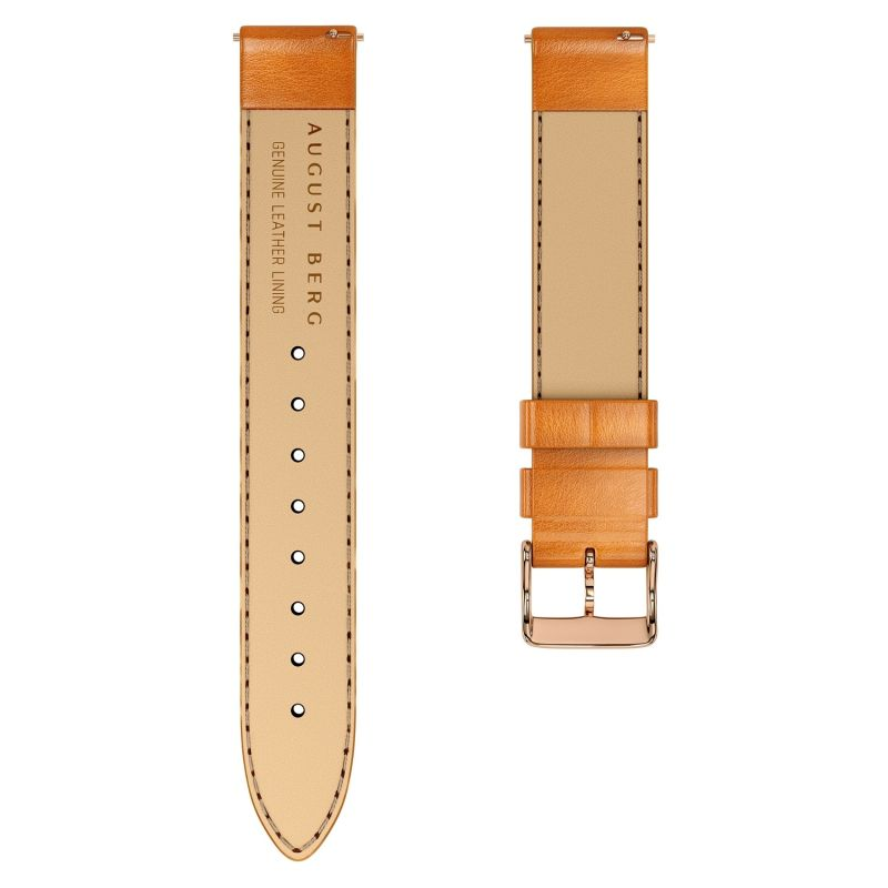 August Berg Serenity Rosegold Classic Greenhill - Light Brown Leather 32mm image