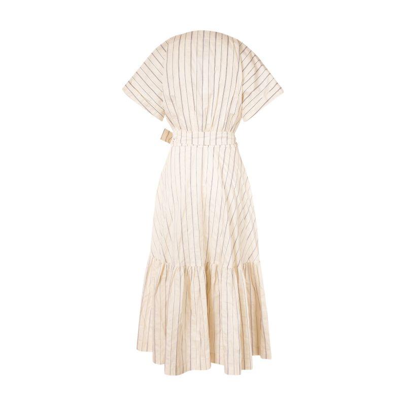 Grace wrap dress Stripes image