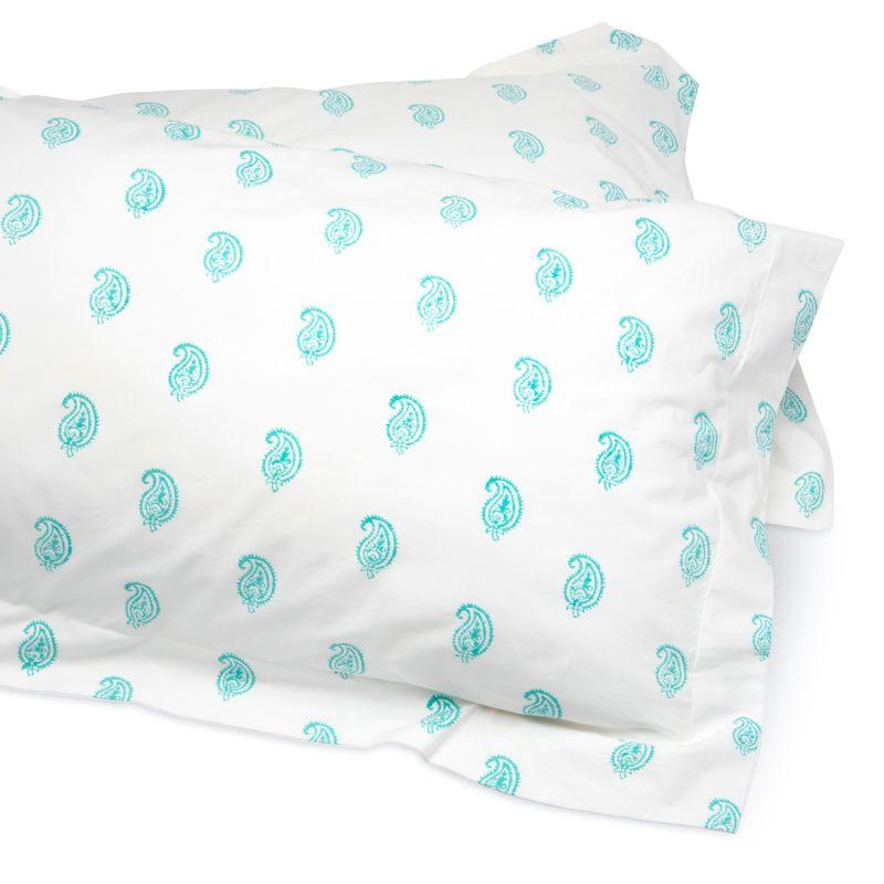 Aqua Paisley Bedding Set Double image