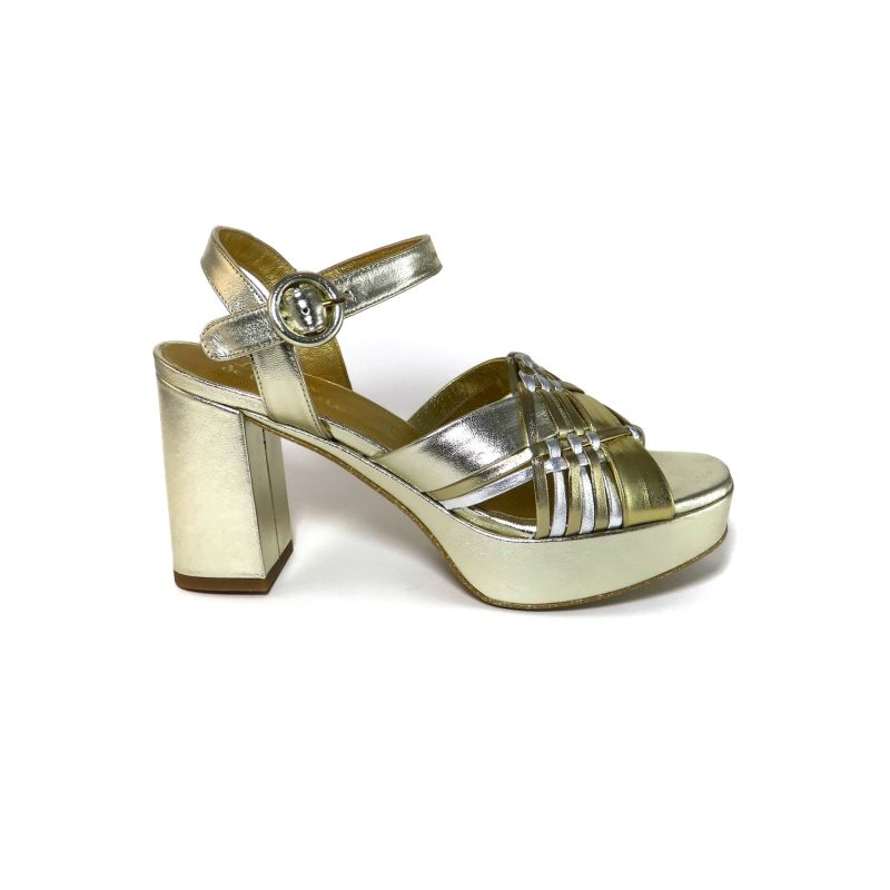 Tina T Gold Handwoven Sandals image