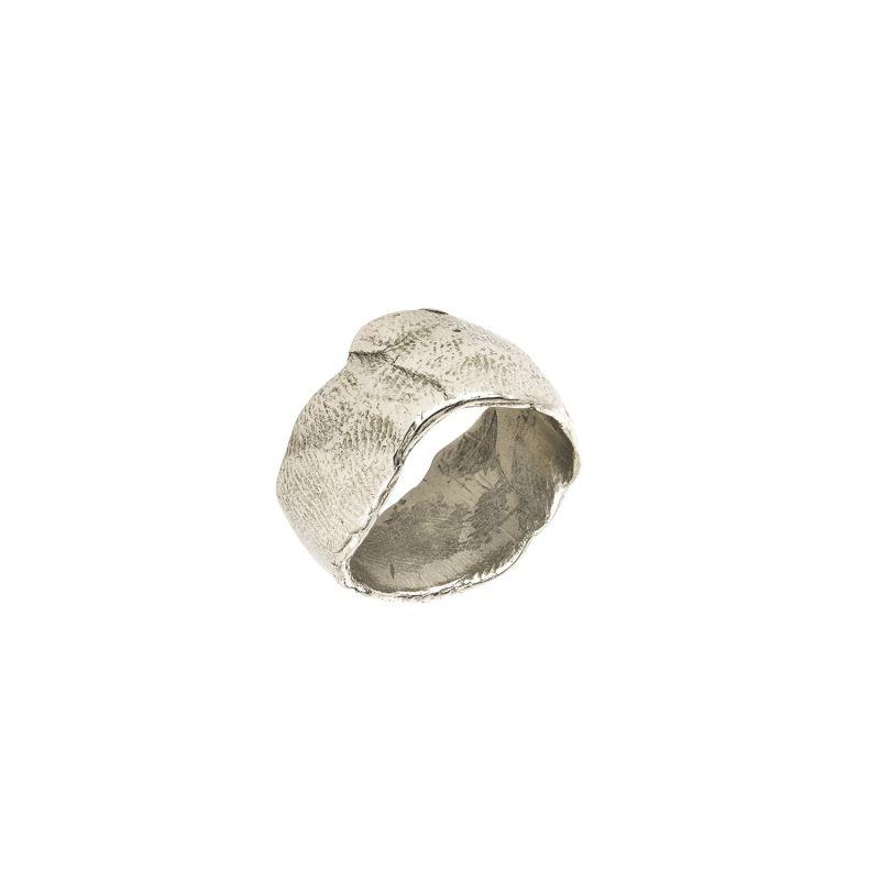 Silver Statement Organic Ring image