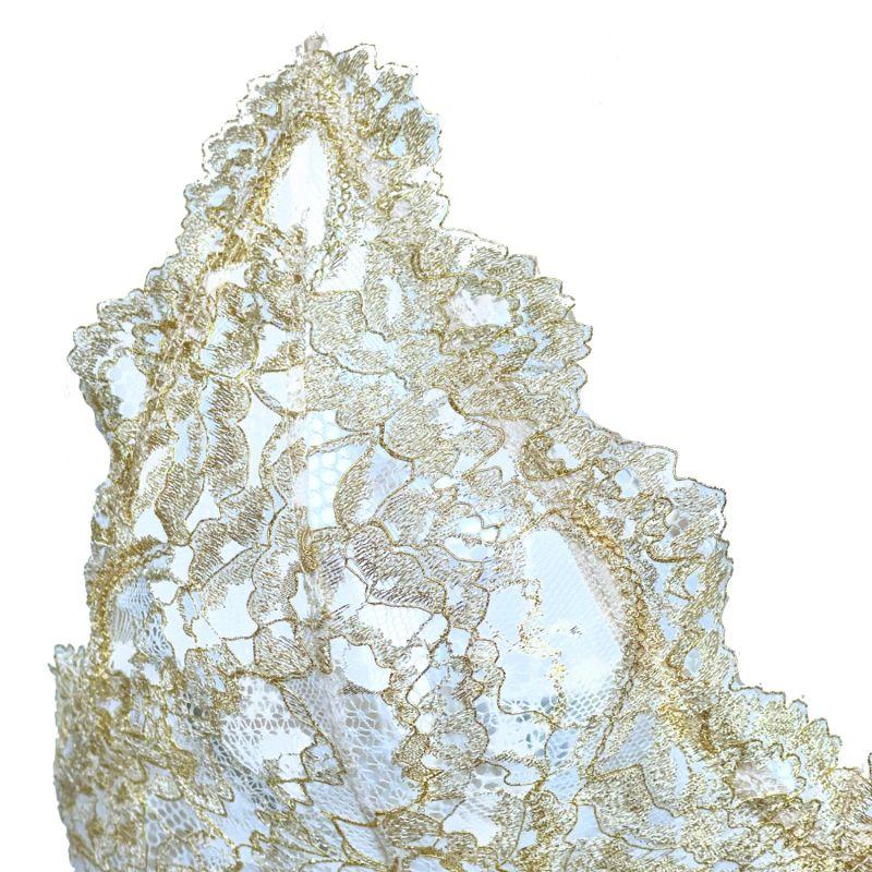 Gold Metallic Lace Soft Bralette image