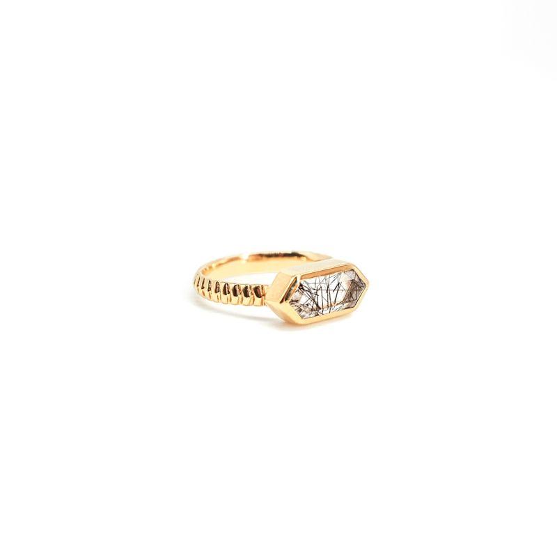 Lile Rutile Quartz Gold Ring image