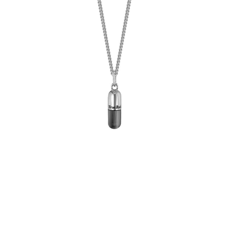 Gun Metal Grey Mini Pill Pendant image