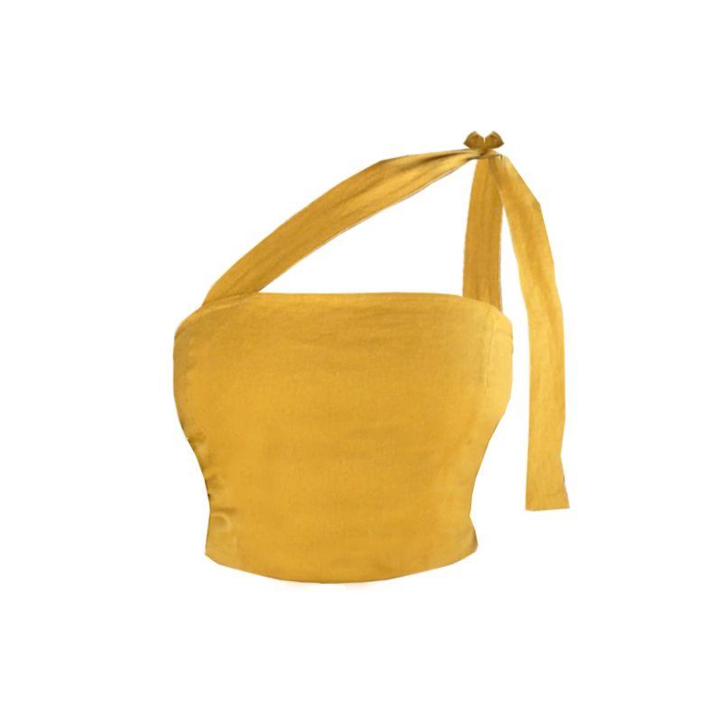 Aspen Top- Mustard image