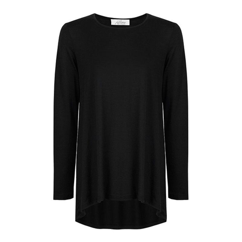Luxury Superfine Merino Swing Top Black image