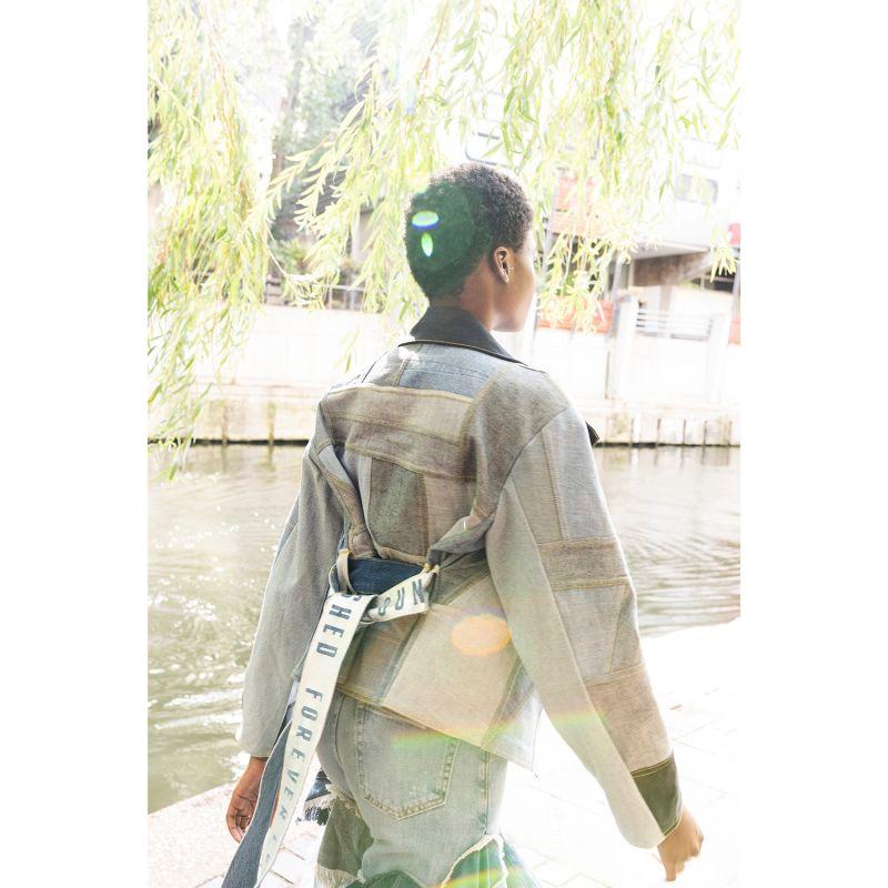 Forever Loved Patchwork Denim Jacket - Reversible image