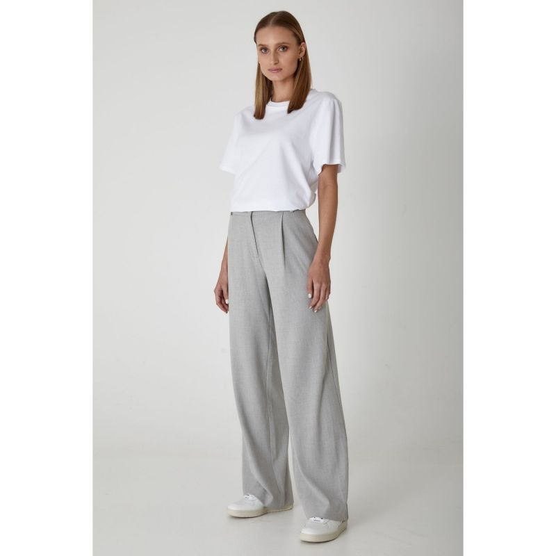 Becker Wide Leg Pant - Sport Luxe In Soft Grey image