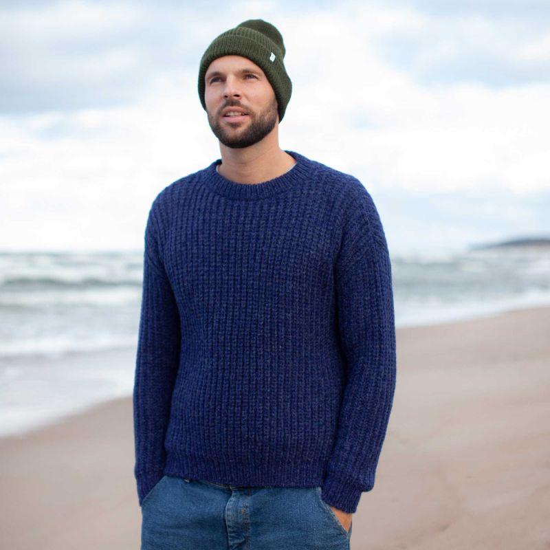 Uomo Alpaca Blend Sweater - Navy Blue image