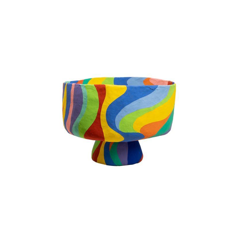 Small Papier Mache Rainbow Bowl image