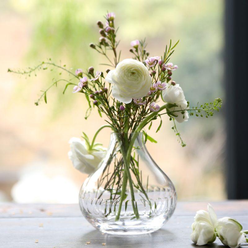 A Hand-Engraved Crystal Vase With Lens Design image