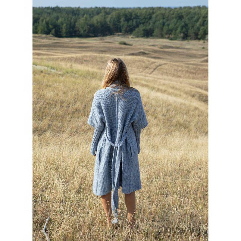 Tesoro Alpaca Blend Coat - Sky Blue image