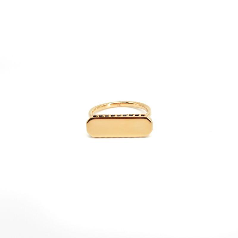 Iliam Black Onyx Gold Ring image