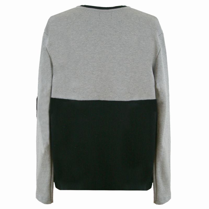 Organic Colour Block Sweatshirt In Grey & Black image