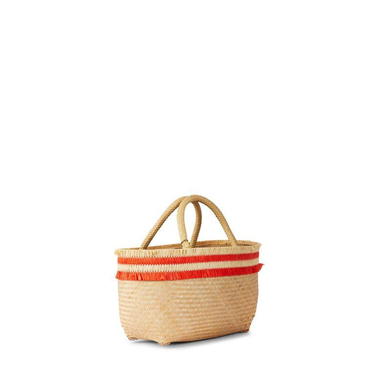 Nihi Mini Bmaboo Tote Bag - Hot Coral image