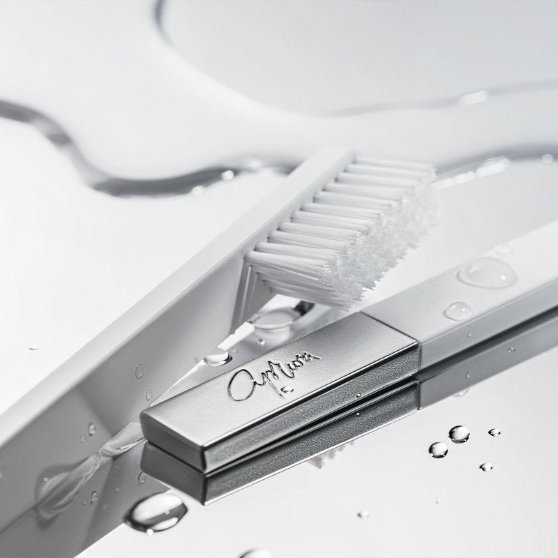 Apriori Slim White Silver Medium Toothbrush image