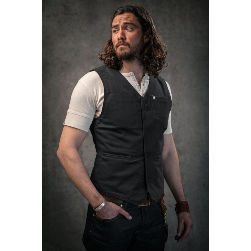 &Sons Storm Grey Lincoln Waistcoat / Vest image
