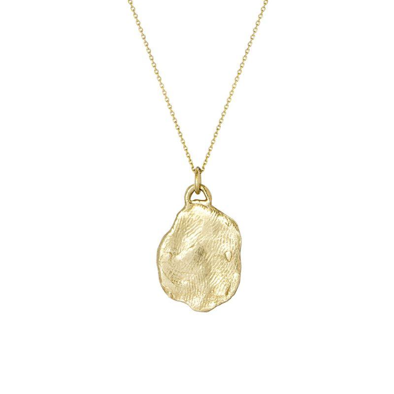 9ct Gold Medium Organic Medallion Necklace image