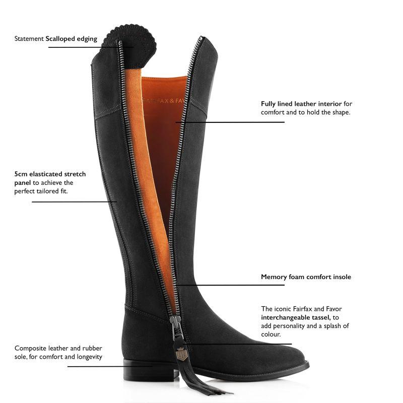 The Regina Black - Suede Boot image