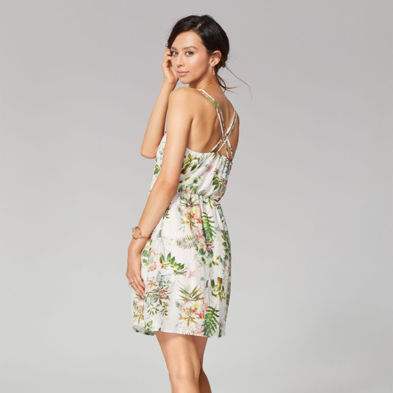Mini Cupro Dress With Floral Print image