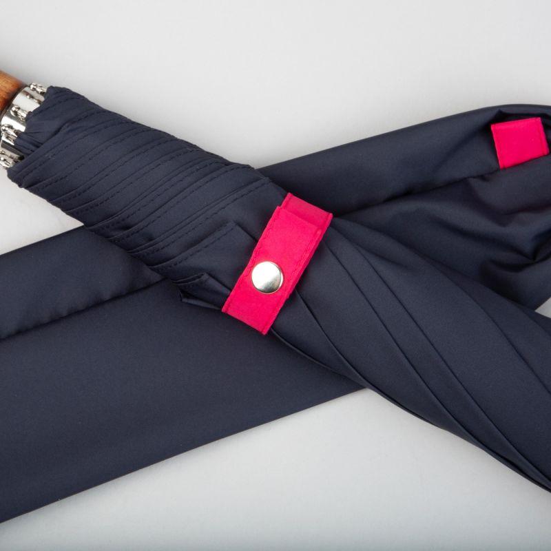 British Folding Umbrella Marine Blue/Pink image