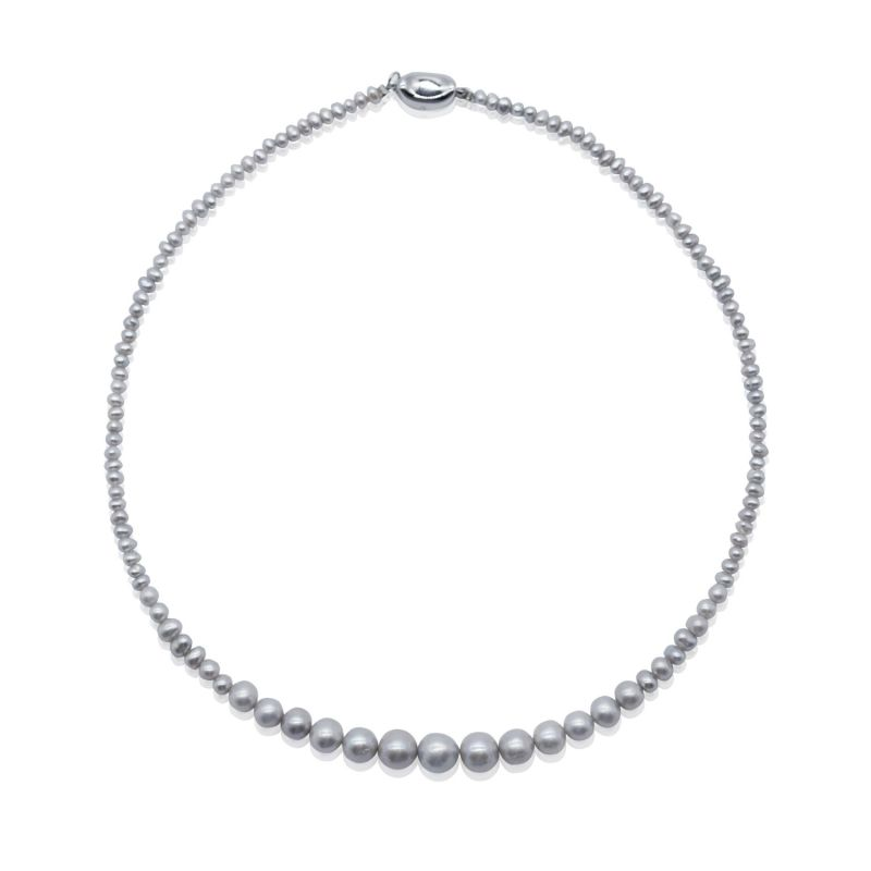Mia Gray Pearl Necklace image